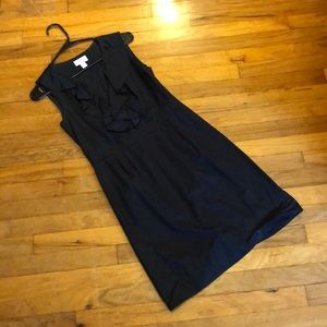 NWOT Ann Taylor Loft black stiff cotton dress